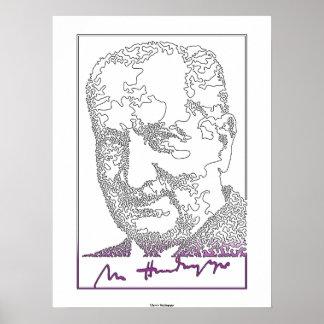 Martin Heidegger. Filósofo alemán [013] Póster
