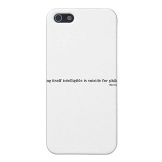 Martin Heidegger iPhone 5 Funda