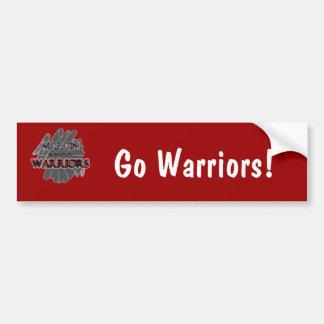 Martin High School Warriors - Arlington, TX Car Bumper Sticker