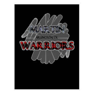 Martin High School Warriors - Arlington, TX Postcard