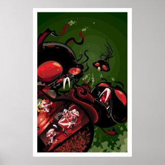 Martin Hsu - ataque del Octobunny Póster