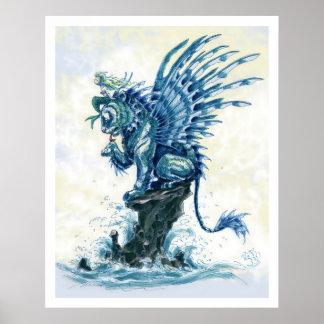 Martin Hsu - pescado del tigre Póster