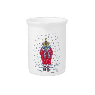 Martin in the Snow Beverage Pitcher
