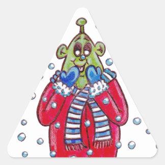 Martin in the Snow Triangle Sticker