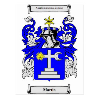 Martin (Ireland) Coat of Arms Postcard