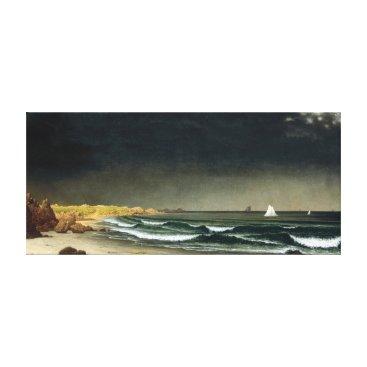Beach Themed Martin Johnson Heade Approaching Storm Beach Canvas Print