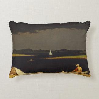 Martin Johnson Heade - Approaching Thunderstorm Decorative Pillow