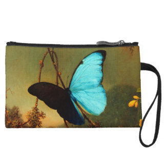 Martin Johnson Heade Blue Morpho Butterfly Wristlet Clutch