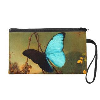 Martin Johnson Heade Blue Morpho Butterfly Wristlet Purses