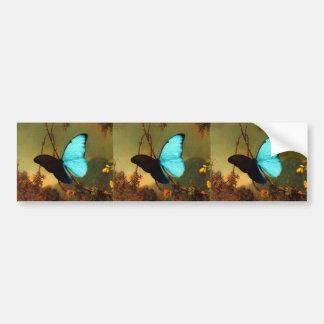 Martin Johnson Heade Blue Morpho Butterfly Bumper Sticker