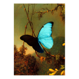 Martin Johnson Heade Blue Morpho Butterfly Large Business Cards (Pack Of 100)