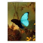 Martin Johnson Heade Blue Morpho Butterfly Stationery Note Card