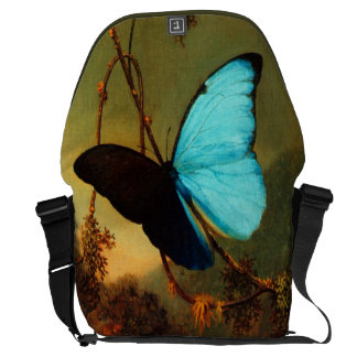 Martin Johnson Heade Blue Morpho Butterfly Courier Bag