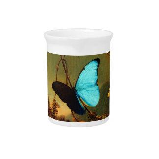 Martin Johnson Heade Blue Morpho Butterfly Drink Pitcher