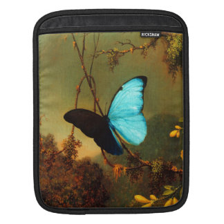 Martin Johnson Heade Blue Morpho Butterfly iPad Sleeve