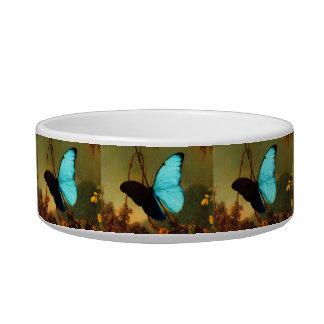 Martin Johnson Heade Blue Morpho Butterfly Pet Water Bowls