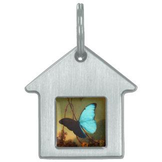 Martin Johnson Heade Blue Morpho Butterfly Pet ID Tag