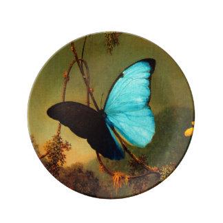Martin Johnson Heade Blue Morpho Butterfly Plate