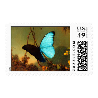 Martin Johnson Heade Blue Morpho Butterfly Postage Stamp