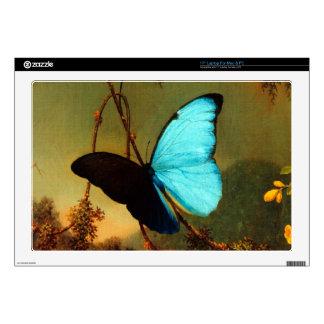 "Martin Johnson Heade Blue Morpho Butterfly Decal For 17"" Laptop"