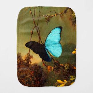 Martin Johnson Heade Blue Morpho Butterfly Baby Burp Cloth