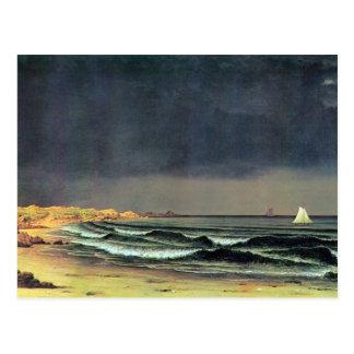 Martin Johnson Heade - Emerging storm Narragansett Postcard