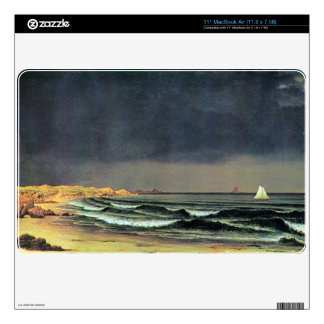 Martin Johnson Heade - Emerging storm Narragansett Skin For The MacBook Air