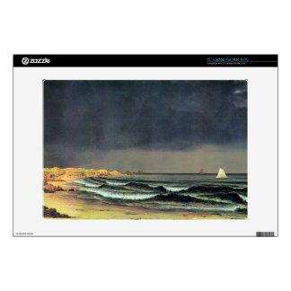 Martin Johnson Heade - Emerging storm Narragansett Laptop Decals
