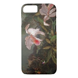 Martin Johnson Heade - Hummingbirds and Flowers iPhone 7 Case