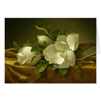 Martin Johnson Heade - Magnolias on Gold Velvet Card