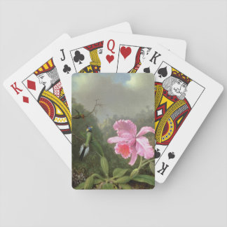 Martin Johnson Heade Orchid And Hummingbirds Playing Cards
