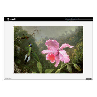 Martin Johnson Heade Orchid And Hummingbirds Laptop Decals