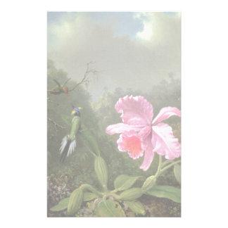 Martin Johnson Heade Orchid And Hummingbirds Stationery