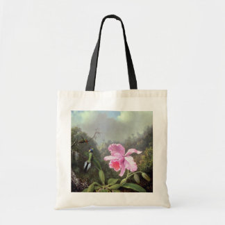 Martin Johnson Heade Orchid And Hummingbirds Tote Bag