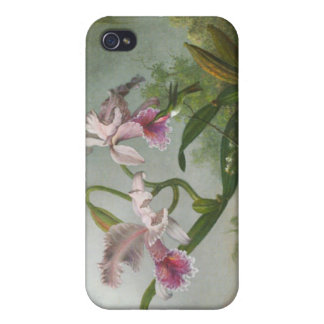 Martin Johnson Heade - Orchids and Hummingbirds iPhone 4 Cases