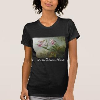 Martin Johnson Heade - Orchids and Hummingbirds T-shirt