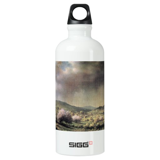 Martin Johnson Heade - Spring rain the valley of C SIGG Traveler 0.6L Water Bottle