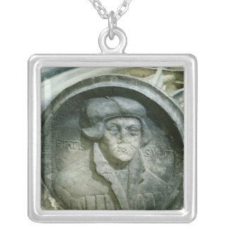 Martin Luther aged 57 with the Luther's Rose Silver Plated Necklace