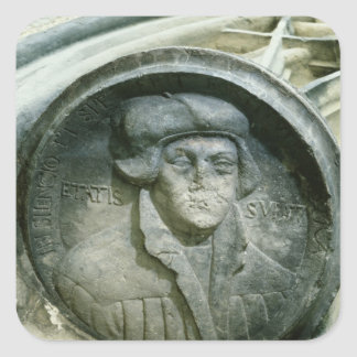 Martin Luther aged 57 with the Luther's Rose Square Sticker