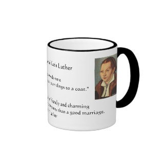 Martin Luther and Katie Luther Marraige Ringer Coffee Mug