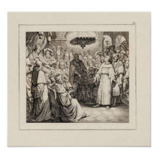 Martin Luther antes de la dieta de gusanos Poster