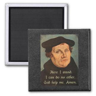 Martin Luther aquí coloco la cita de la fe Imán Cuadrado