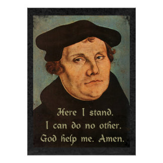 Martin Luther - aquí coloco la cita Poster