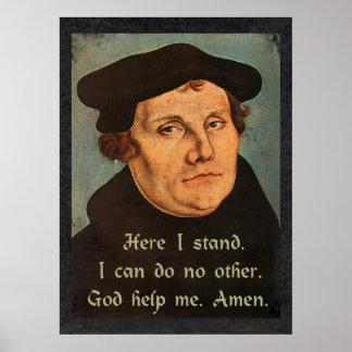 Martin Luther aquí coloco la cita religiosa Póster