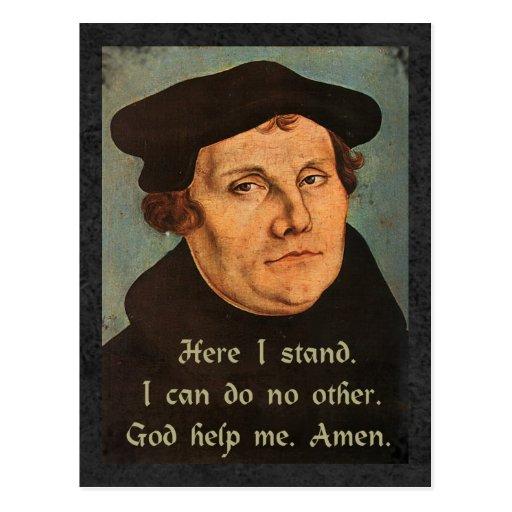 Martin Luther - aquí coloco la cita Tarjeta Postal
