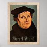 Martin Luther aquí que me coloco Póster