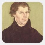 Martin Luther Calcomanías Cuadradases