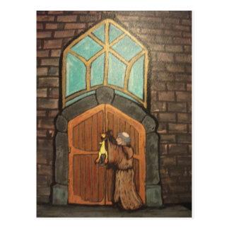 Martin Luther clava el pollo de goma a la puerta Tarjeta Postal