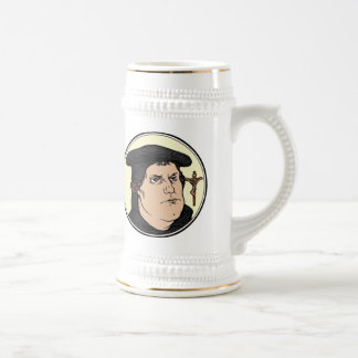 Martin Luther confessing Christ crucified stein 18 Oz Beer Stein