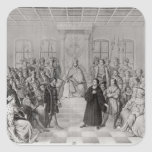 Martin Luther delante de Charles V Pegatinas Cuadradases Personalizadas